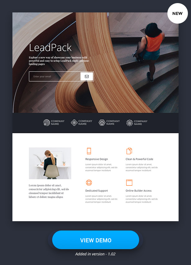 LeadPack Landing Pages