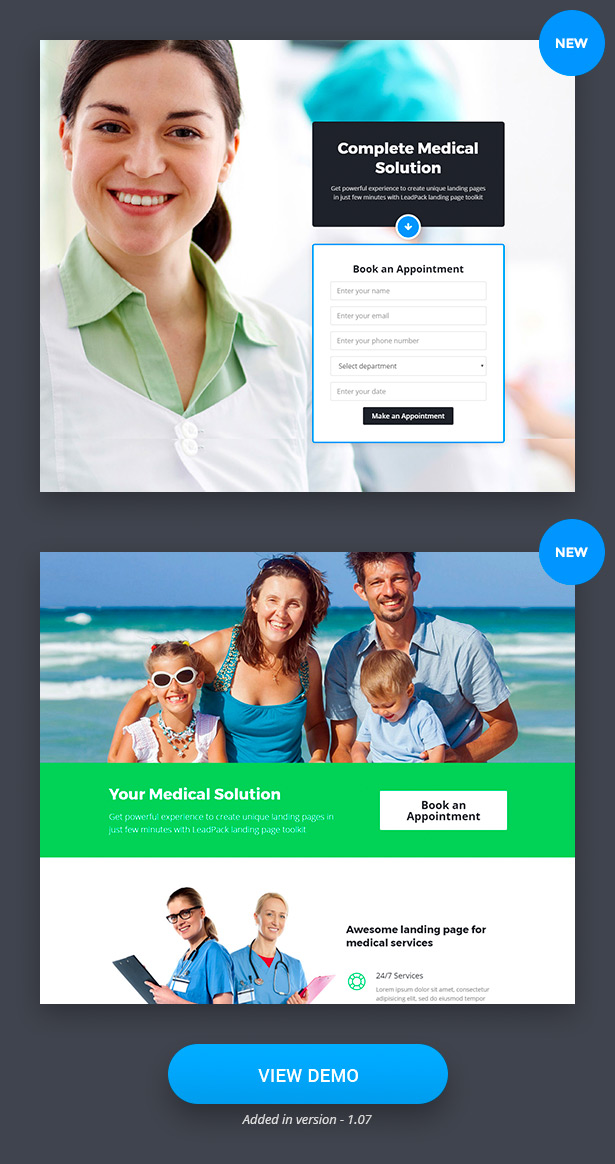 Medical Landing Pages