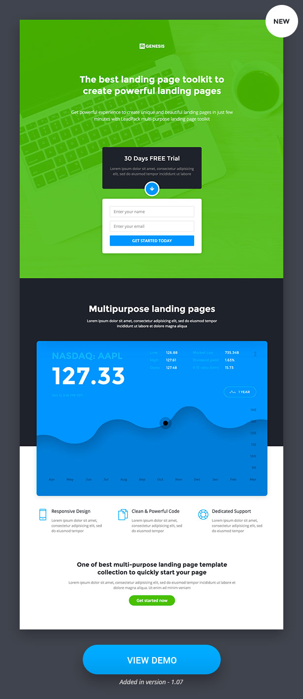 Finance Landing Pages